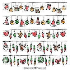 Download Vector Watercolor Christmas Elements Pattern Vectorpicker