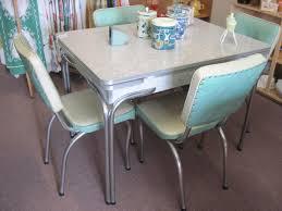 retro chrome kitchen table and chairs unique how to re a retro kitchen table sets chrome