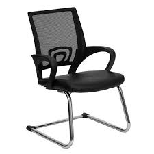 office chair without wheels. Flash Furniture Black Mesh Side Reception Chair With Leather Seat And Sled Base Office Without Wheels L