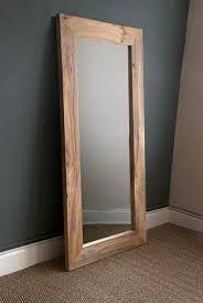 wooden mirror framed mirror wall wall