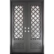 wrought iron front doorsIron Doors Unlimited 62 in x 975 in Luce Lattice Classic 34