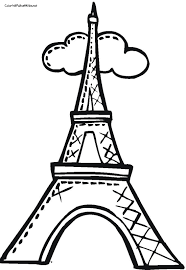 Small Picture Eiffel Tower Coloring Pages Coloring Pages For Kids 17873
