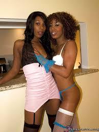 Pretty ebony babes Misty Stone Rane Revere make some lesbian.