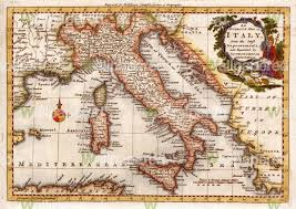 antique map of italy  wall mural  map wallpaper