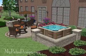 patio designs. Hot Tub Patio Design With Custom Designs