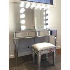 vanity table. H M S Remaining. Mirrored 2 Drawers Makeup Vanity Dressing Table