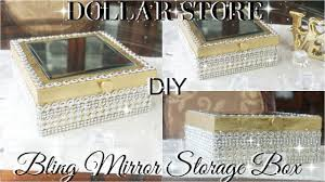 diy decorated storage boxes. DIY DOLLAR STORE BLING STORAGE BOX | TREE GLAM ROOM DECOR Diy Decorated Storage Boxes O