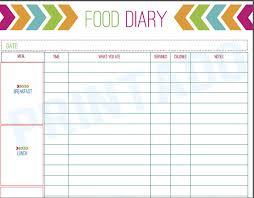 Best Photos Of Printable Food Diary Food Diary Log Printable Free