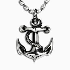 a hand made anchor pendant in sterling silver to order
