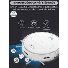 ROBOT Hút Bụi Lau Nhà Tự Động Siêu Thông Minh XSmart Bowai OB11 Premium Có  App Điều Khiển, Auto Sạc Pin Làm Sạch Sàn Lông Tóc Hàng Chính Hãng - Robot  hút