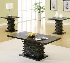 High Quality Occasional Table Sets Contemporary 3 Piece Coffee Table And End Table Set