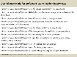 interview questions team leader top 10 software team leader interview questions and answers