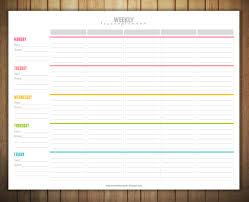 Free Printable Weekly Lesson Plan Template | Ms. Greene: My Own Room ...