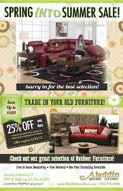 summer furniture sale. Aladdin Home Store Summer Sale Ad Furniture O