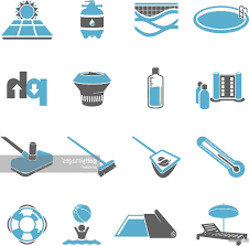 swimming pool vector. Best HD Swimming Pool Maintenance Icon Set Vector Design