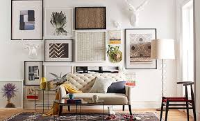 creative living room ideas design: view in gallery living room with a gallery wall