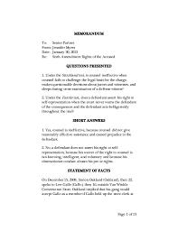 Writing Sample Memorandum
