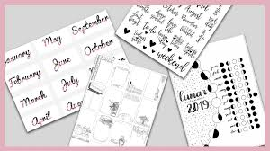 29 Free Bullet Journal Printables To Snag For 2019 The