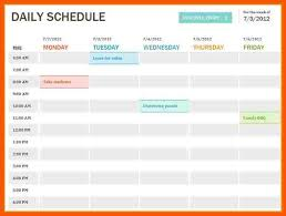 Excel Daily Schedule Template Major Magdalene Project Org