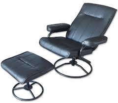office recliner chair. Recliner Chair \u0026 Foot Stool - Leather Office Recline Swivel