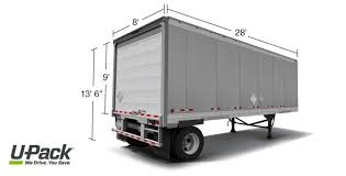 Upack Quote UPack Trailer Size and Capacity UPack 23