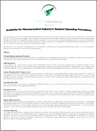 standard operating procedures template word operating procedures example how to make an sop manual