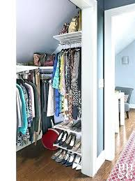 making your own wardrobe make your own walk in closet let slanted ceilings deter plans for