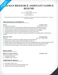 Human Resource Resume Objective Sample Human Resources Resume Sweetpartner 43