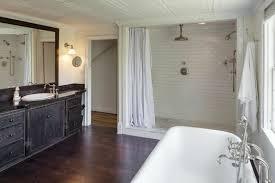 open walk in shower cottage kitchen walk in shower curtain