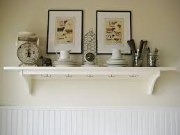 decorative white kitchen wall shelf with hanger of attractive wall with decorative kitchen shelves