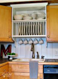 Kitchen Cabinet Upgrades Extraordinary Remodelaholic Upgrade Cabinets By Building A Custom Plate Rack Shelf