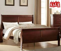 Modern Wooden King Size Bed Frame with Headboard & Footboard Bedroom Furniture