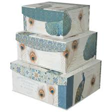 Decorator Boxes Decorative Storage Organizer boxes with Magnetic Sealable Lids 2