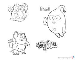 Vampirina Coloring Pages Wolfie Demi And Gregoria Free Printable