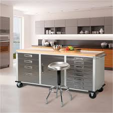 diy rolling workbench with drawers garage rolling metal steel tool box storage cabinet workbench no