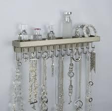 Wall Mount Long Necklace Rack Holder Hanging Jewelry Organizer Display  Closet Storage