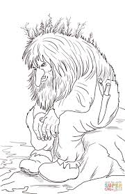 Norwegian Troll Coloring Page From Norway