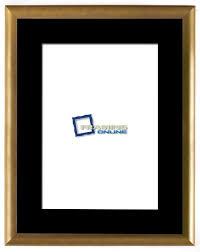 12 x16 gold frame black mat 802gbr