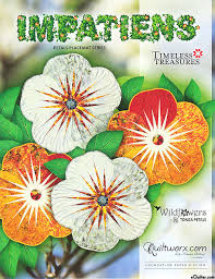 Paper Piecing Flower Equilter Impatiens Placemats Paper Piecing Pattern By Judy Niemeyer