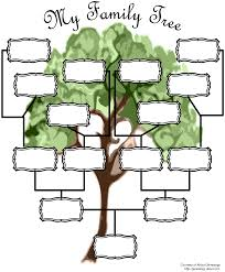 Printable Blank Family Tree Chart Blank Family Tree Chart Templates At Allbusinesstemplates