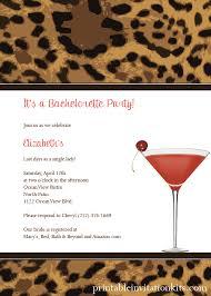 Leopard Print Cocktail Party Invitation Wedding Invitation