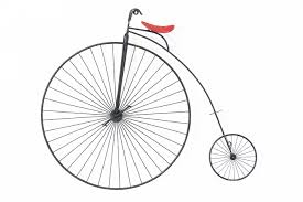 high wheel bicycle wall art