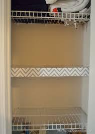 closet shelf paper decor