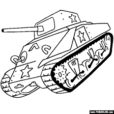 Small Picture Tanks Online Coloring Pages Page 1