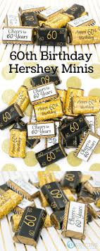 fun 60th birthday party ideas for mom. Black And Gold 60th Birthday Party - Mini Candy Bar Stickers (Set Of 54) Fun Ideas For Mom A