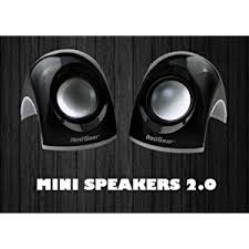awesome computer speakers. enjoy your music collection and games with redgear mini speakers 2.0. designed the nice combination of amazing quality clear sound. awesome computer
