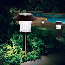 Alpan LED Wireless Rechargeable Solar Pathway Garden Lights 8pack Alpan Solar Garden Lights