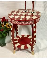 Whimsical furniture and decor Hand Painted Art Whimsical Painted Table Harlequin Painted End Table Painted Round End Tablepainted Furniture Hand Painted Home Depot Remarkable Deal On Whimsical Painted Table Harlequin Painted End