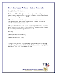 New Employee Welcome Letter Fill Online Printable
