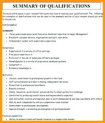Resume Qualifications Unique Resume Examples Summary Of Stunning Qualification For Resume
